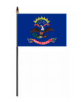 North Dakota Hand Flag - Small.
